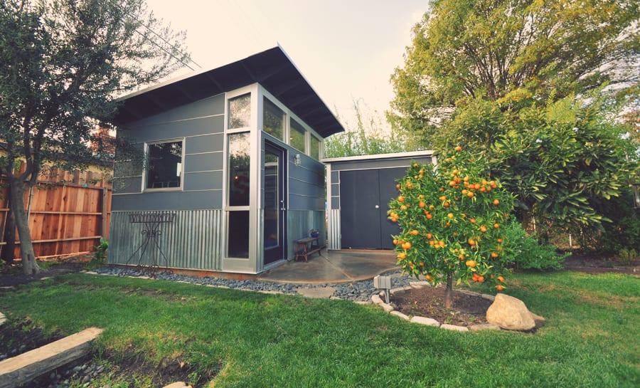 Storage sheds prefab diy shed kits for stylish backyard for Garden shed music studio