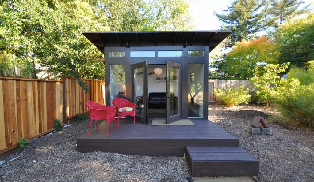 Prefab office sheds kits for your backyard office for Modern office shed
