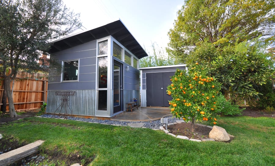 Prefab office sheds kits for your backyard office for Prefab she shed