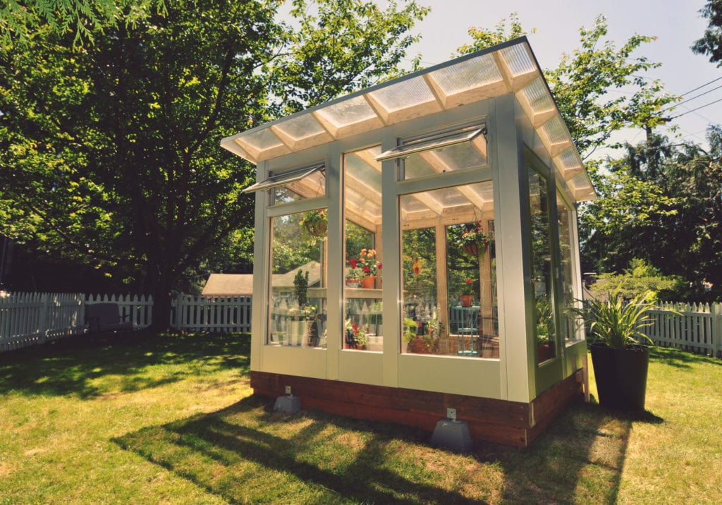 Home Greenhouse Kits | Studio Sprout Backyard Glass Greenhouses