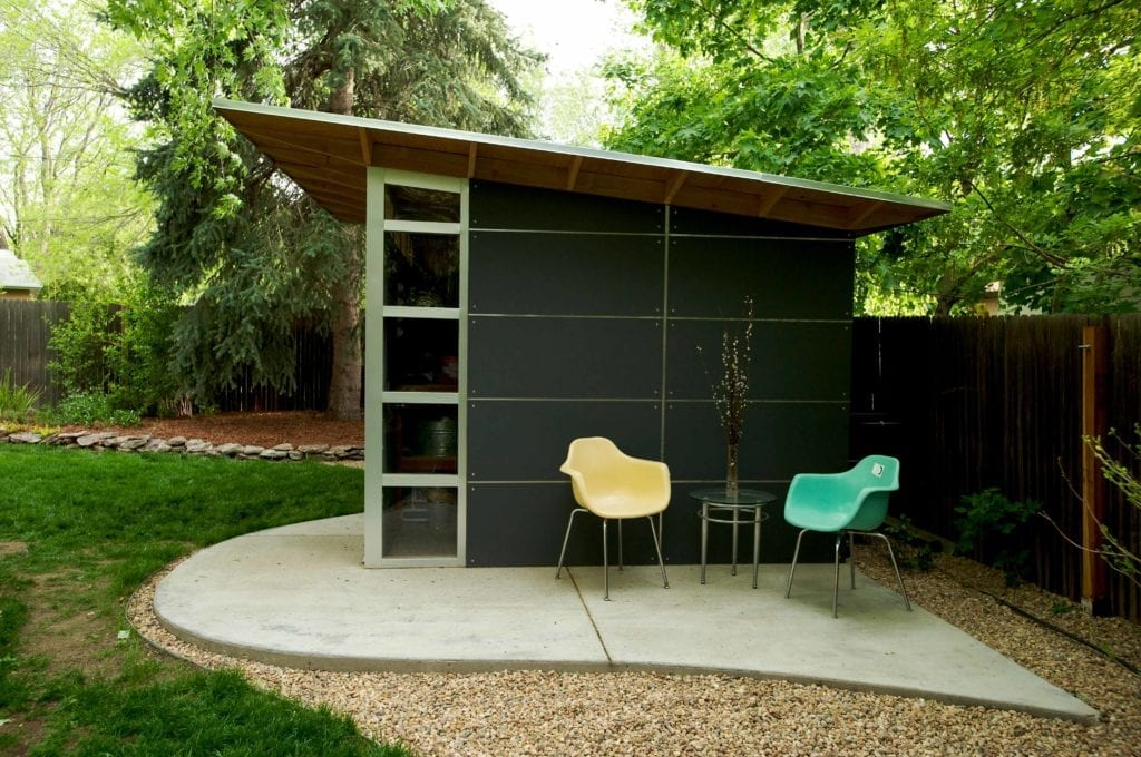Storage sheds prefab diy shed kits for backyard storage for Modern office shed