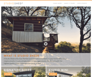 Studio Shed New Website