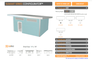 Design Your Summit Series with Studio Shed's Configurator