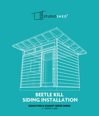 Beetle Kill Siding Installation