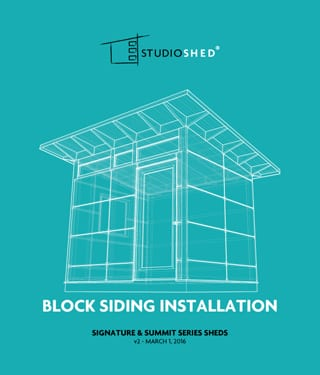 Block Siding Installation