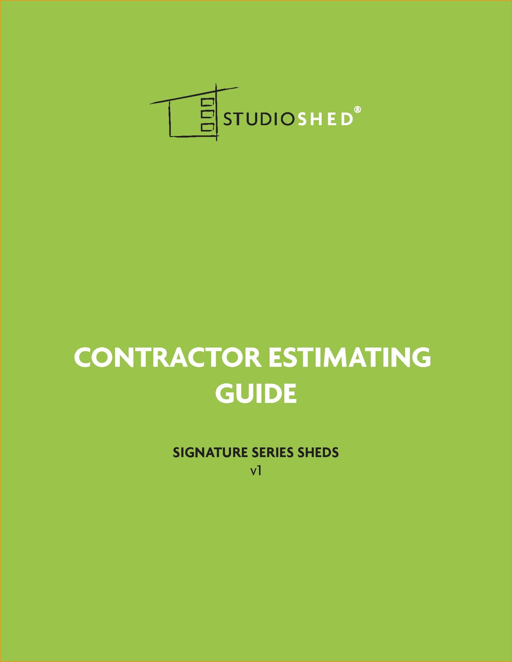 Contractor Estimating Guide