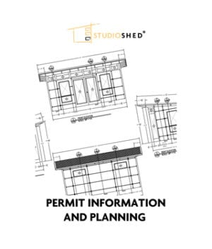 Studio Shed Permit Information info and Planning