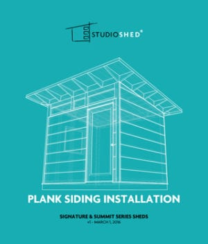 how to install studio shed plank siding