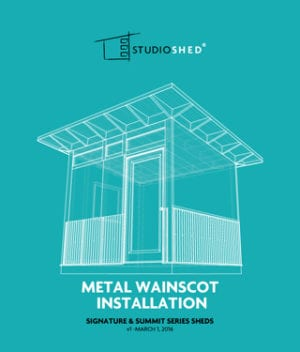 How to install Studio Shed Metal Wainscot