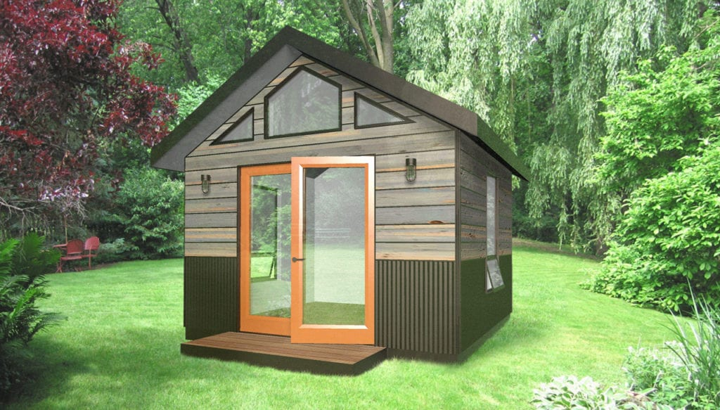 Backyard sheds studios storage home office sheds for Backyard office kit