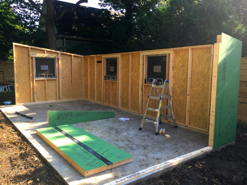 12 39 x24 39 studio shed an installer 39 s view for Garden shed music studio