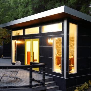 Prefab Modern Sheds And Backyard