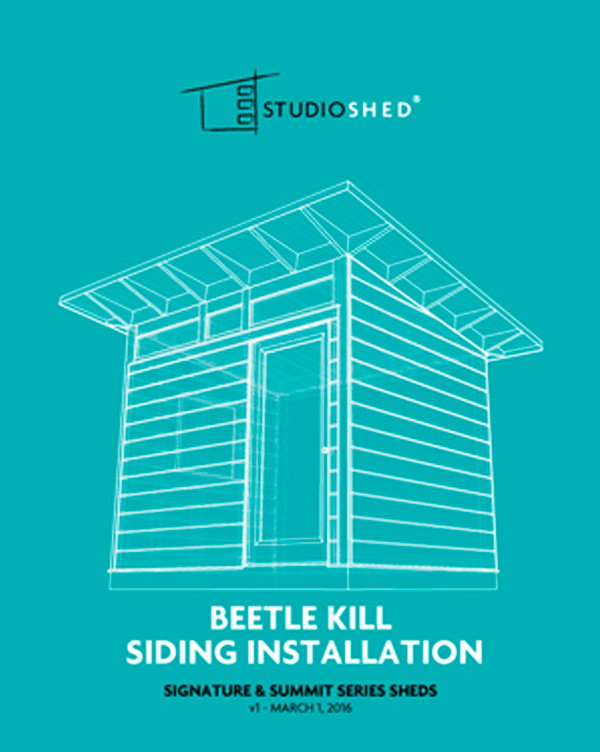 Studio Shed Beetle Kill Siding Installation Guide