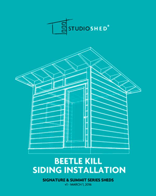 Studio Shed Beetle Kill Siding Installation Guide