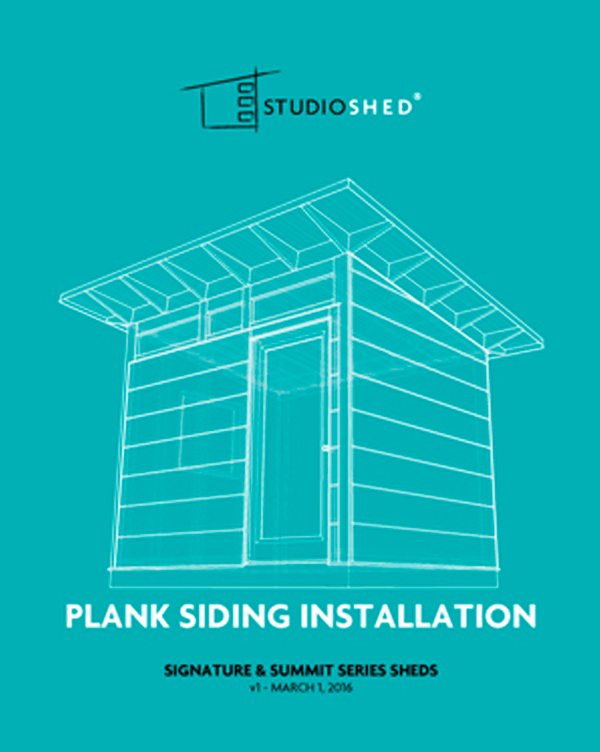 Studio Shed Plank Siding Installation Guide