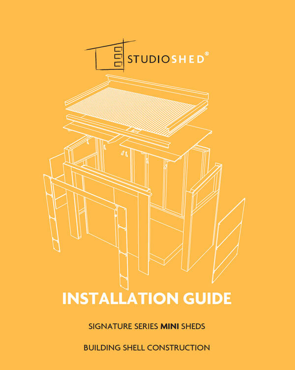 Studio Shed Installation Guide
