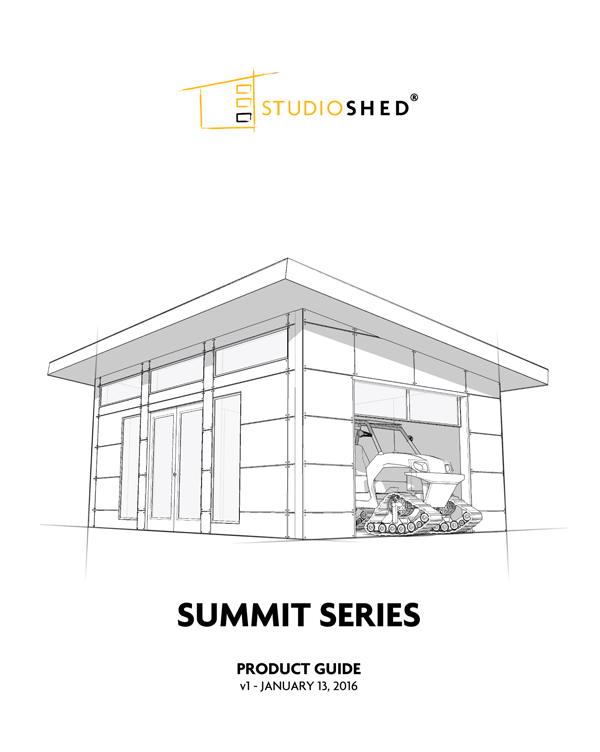 Studio Shed Summit Series Product Guide