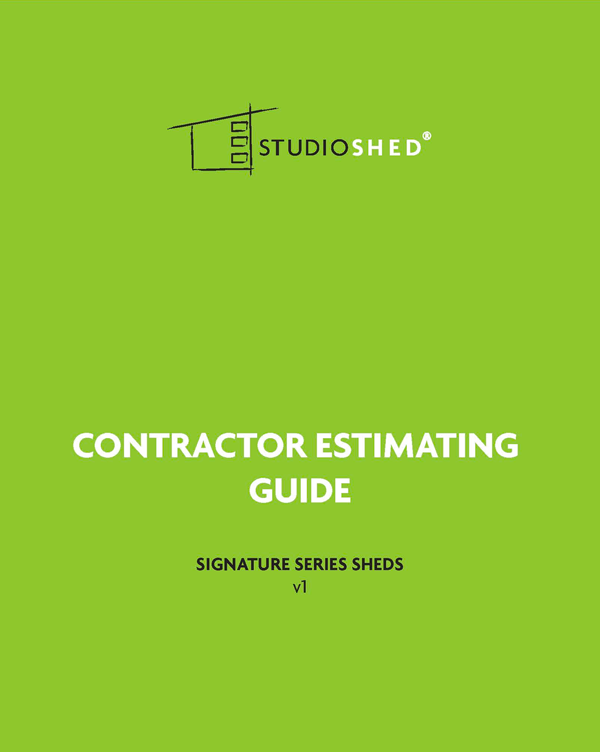 Studio Shed Contractor Estimator Guide