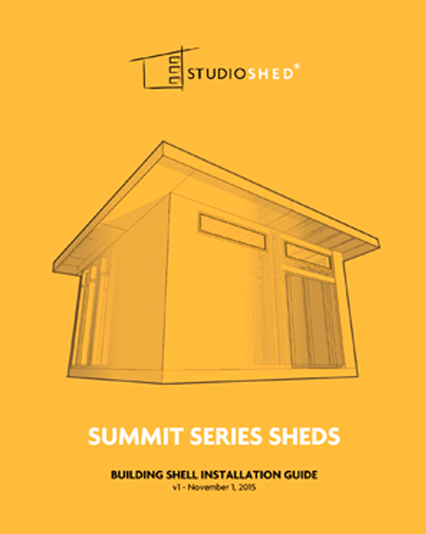 Studio Shed Summit Series Installation Guide