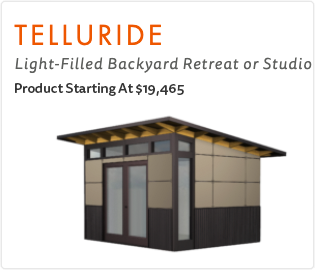 Ship Fast Studio Shed Telluride  Model