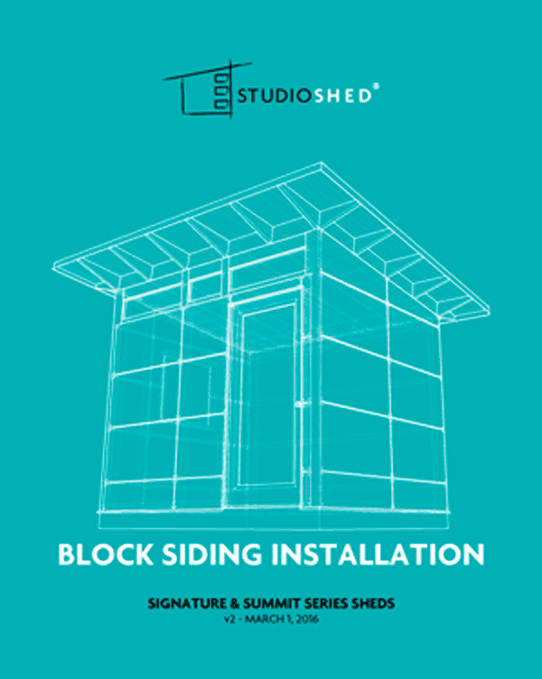 Studio Shed Block Siding Installation Guide